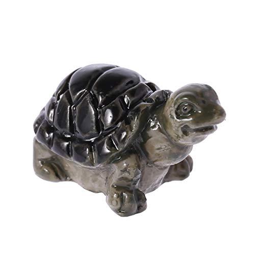 yaonow Resin Miniature Decoration Tortoise Micro Garden Plant Pot Bonsai Craft Decoration Ornament