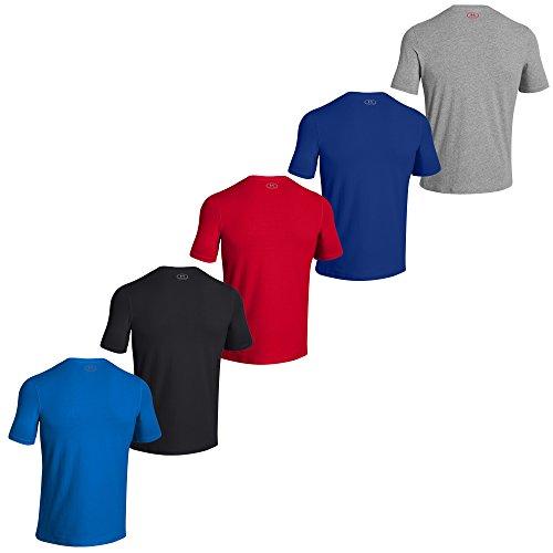 Para hombre UNDER ARMOUR Charged Cotton diseño con logotipo-camiseta de manga corta camiseta para hombre negro