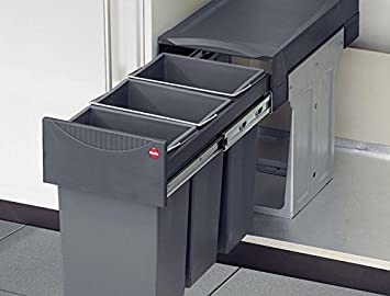 Hailo Terzett 3x10 Liter Mülleimer Küche Abfalleimer Trennsysten ...
