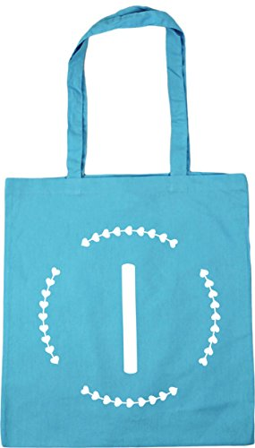 x38cm I 10 Initial 42cm Bag Surf Beach Gym Tote litres Shopping Blue HippoWarehouse FqwH8CC