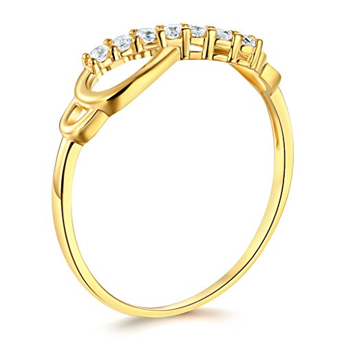 14k yellow or white gold solid infinity ring lifestyle