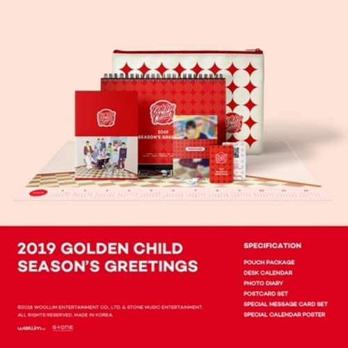 GOLDEN CHILD 2019 SEASON'S GREETINGS Pouch+Calendar+Diary+Post+Message+Poster+Tracking Number K-POP SEALED