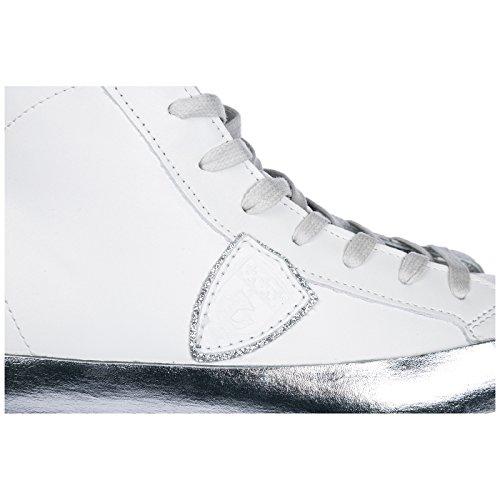 H Paris Blanc Hautes Femme Chaussures Baskets Sneakers Cuir Model en Philippe 8afSwzqS