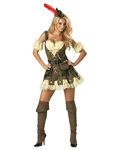 Womens Robin Hood Costume Hero Renaissance Costume Mini Dress Sexy Costumes Sizes: (Robin Costumes Ideas)