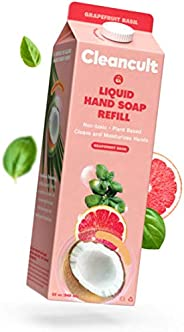 Cleancult Liquid Hand Soap Refill, Grapefruit Basil Scent, 32 oz, Natural Ingredients, Cruelty Free, Moisturiz