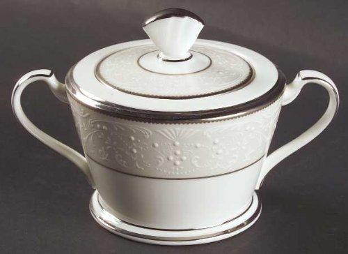 Noritake Silver Palace Sugar Bowl & Lid, Fine China Dinnerware