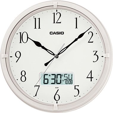 - Casio Ic-01-7 Wall Clock with Day and Date Analog Digital Display