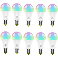 10 bombillas LED inteligentes, bombillas regulables multicolores RGB E27 7W, funcionan con Alexa, Google Home e IFTTT, no requiere concentrador, control de color de teléfono inteligente