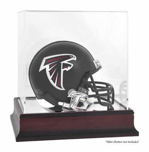 Atlanta Falcons Mahogany Mini Helmet Logo Display Case