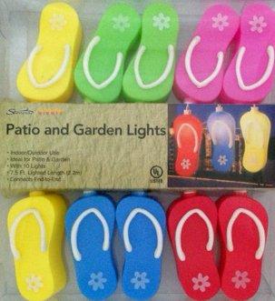 Flip Flop Night Light (Sienna Summer Nights 10 Light Flip-flop Patio Garden Light String)