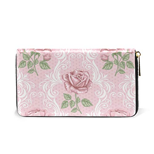 Purses Zip TIZORAX Flower Clutch Wallet Roses Handbags And Around Organizer Womens gnqIwqP8rx