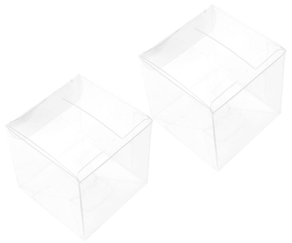 50 x Boîte de fête mariage Transparent PVC cube pour cadeau bonbon emballage HDIGIWORLD