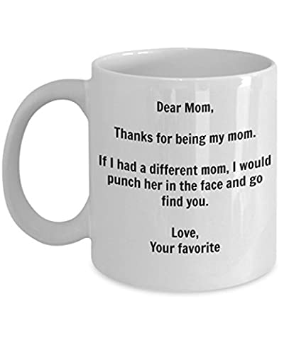 Funny Mom Gift - I'd Punch Another Mom In The Face Coffee Mug - Gag Gift Cup From Your Favorite Child + (The Birth Of Korean Cool)