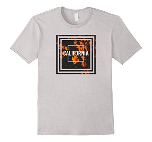 Mens Unique - Poppies California T-Shirt 3XL Silver