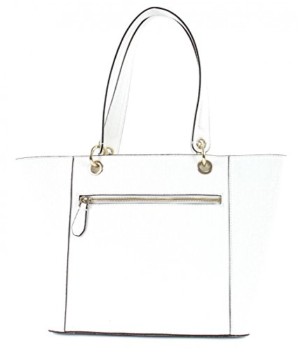 Guess Hwgs6691230, Kamryn Glassy-Look Borsa Shopper Donna, 15x26.5x42 cm Bianco