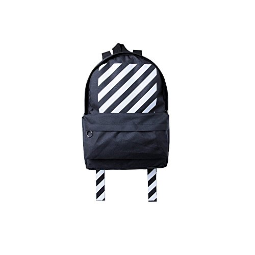Black & White Color Fashionable Durable Waterproof Light Weight Students Backpack