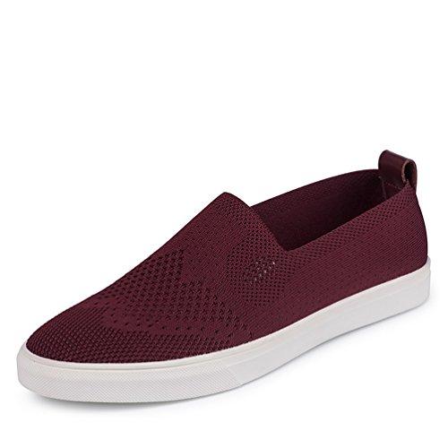 [XINXIKEJI]メンズデッキシューズ 通気 軽量 クッション性 スリッポン カジュアル ウォーキング 履き心地よい 歩きやすい 紳士靴  レッド ブルー グレー
