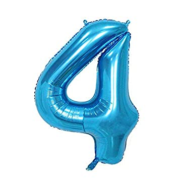 ShopVip Globos de cumpleaños - número 4 - Decoración ...