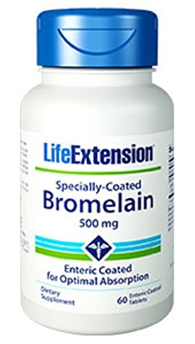 Life Extension - Specially-Coated Bromelain - 500 Mg - 60 Gels (Pack of 3) by Life Extension