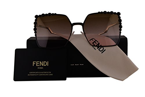 Fendi Authentic Sunglasses FF0259/S Black w/Brown Pink Gradient Lens 205 FF 0259/S F0259/S FF0259S F0259S (60mm)