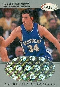 Scott Padgett autographed Basketball Card (Kentucky) 1999 SAGE #A39 Rookie - Autographed College Cards
