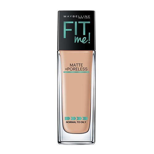 Maybelline Makeup Fit Me Matte + Poreless Liquid Foundation Makeup, Buff Beige Shade, 1 fl oz - Fit Face