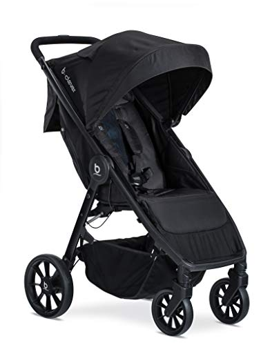 Britax-B-Clever-Lightweight-Stroller-One-Hand-Easy-Fold-Ventilated-Canopy-Cool-Flow-Ventilated-Fabric-Cool-Flow-Teal