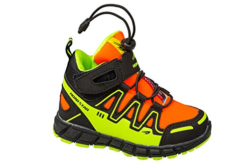 gibra - Zapatillas de sintético/textil para niño schwarz/orange/neongelb