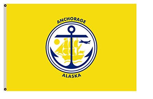 Fyon Alaska Banner City of Anchorage Flag 3x5ft