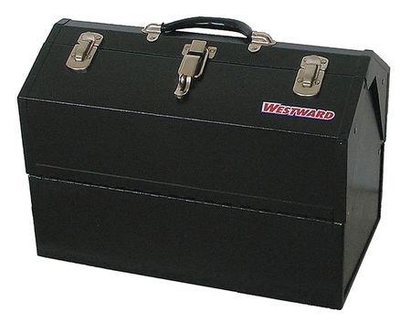 Westward 10J169 Portable Tool Box, 18 Wx10 Dx12-5/8 H, Blk (Westward Box Tool)