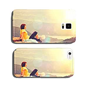sitting on the mountain top cell phone cover case Samsung S5