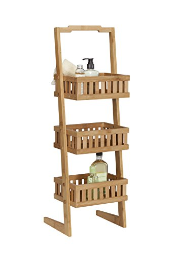 UPC 089786446516, Creative Bath Products Eco Styles Collection 3 Shelf Vanity Valet, Bamboo