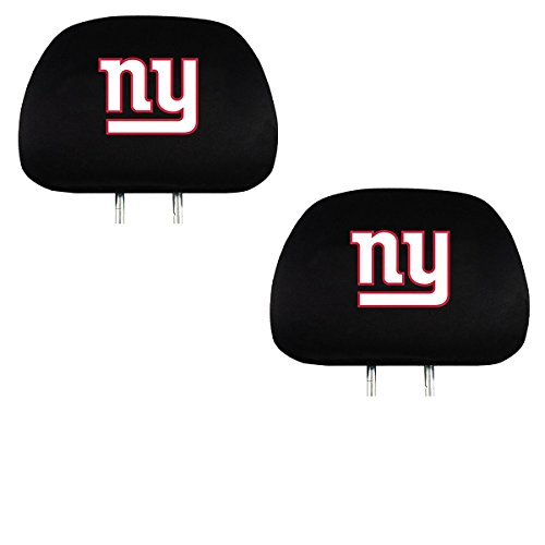 Official National Football League Fan Shop Authentic Headrest Cover (New York (Giants Car Seat Cover)