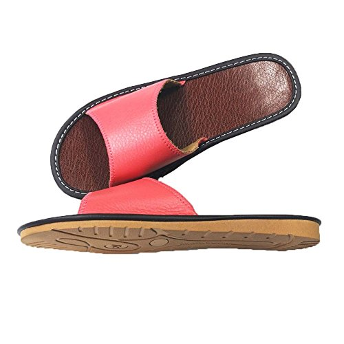 Women Slipper Linen Men HRFEER Sandals Summer Shoes Slippers Women House Beach Indoor Silent Pink xqf6Z