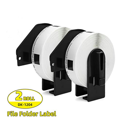 Label Orison DK-1204 Compatible with Brother Multipurpose Paper Label Roll Die-Cut White Paper 2/3