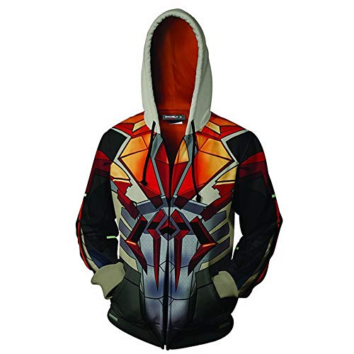 Spiderman Avengers Endgame Hoodie Tech Jacket Zipper Unisex Superhero Cosplay Costume Quantum 3D Pullover Commemorate Sweatshirt (anime Spider, X-Small) ()