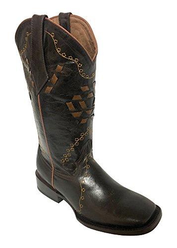 Ferrini Women's Bandita Chocolate Cowgirl Boot Square Toe Chocolate 8.5 M