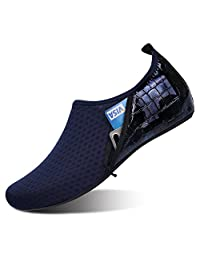 JIASUQI Women's Men's Water Sports Shoes Aqua Skin Socks Barefoot Footware for Beach Swim Surf Yoga