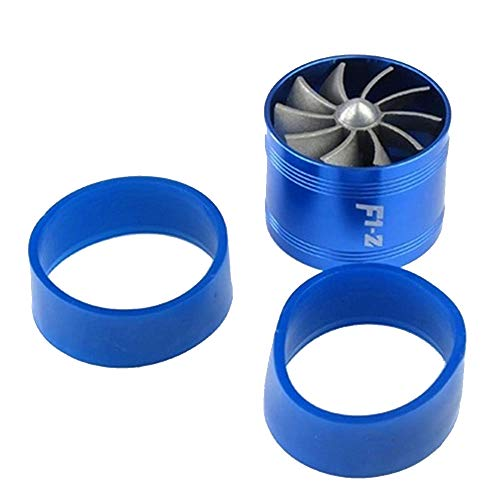 - XWU Double Supercharger Turbine Turbo charger Air Intake Fuel Saver Fan Air Intake Hose Diameter