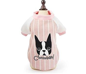 TYJY Béisbol Mascota Ropa para Perros Perros Ropa para Mascotas Pequeño Perro Mediano Chaquetas Abrigos Mascotas Ropa para Perro Bulldog Francés Pug, ...