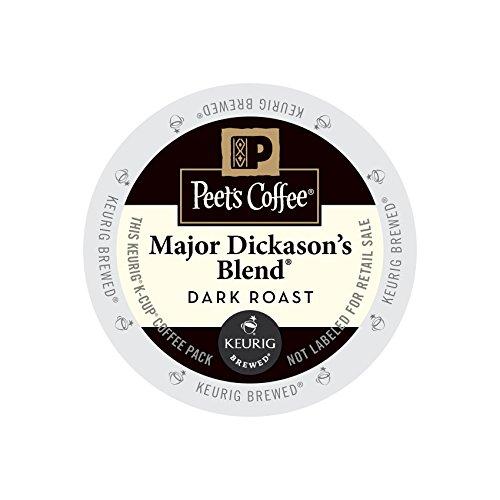 Peet's Coffee & Tea Coffee Major Dickason's Blend K-Cup Portion Pack for Keurig K-Cup Brewers, 22 - 22 Count K-cups