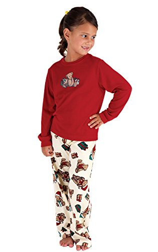 PajamaGram Vermont Teddy Bear Christmas Toddler Pajama Set, Red, (Teddy Bear Pjs)