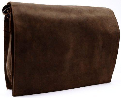 Carpe Diem Borsa a tracolla Formato orizzontale Antico Pelle marrone