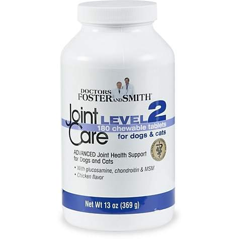 - DRS. Foster and Smith Joint Care Level 2 Chewable Tablets for Dogs and Cats (260)