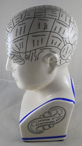 L.N. Fowler Phrenology Head Statue>