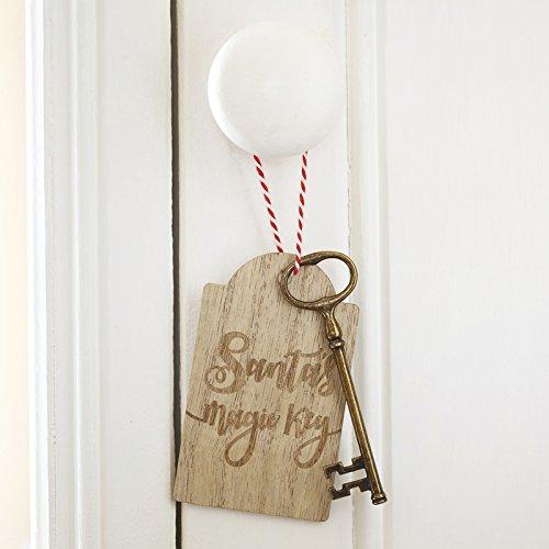 Ginger Ray Christmas Santa's Magic Door Key Keepsake Christmas Eve Children's Novelty - Santa and Friends