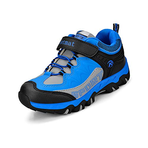 - ZOCAVIA Boys & Girls' Outdoor Hiking Shoes Sneakers Athletic Waterproof Boots for Kids Blue 4 M US Big Kid