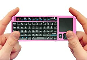 FAVI FE01 2.4GHz Wireless USB Mini Keyboard w Mouse Touchpad, Laser Pointer - US Version (Includes Warranty) - Pink (FE01-P)