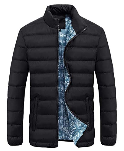 Zipper Black Thickened Sleeve Jacket Men AngelSpace Plus Pocket Size Down Long Warm RqwZXTP
