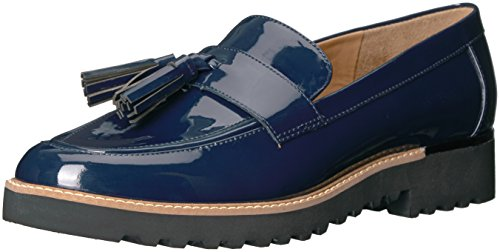 Franco Sarto Womens Hot - Franco Sarto Women's Carolynn Loafer Flat, Inky Navy, 5 M US